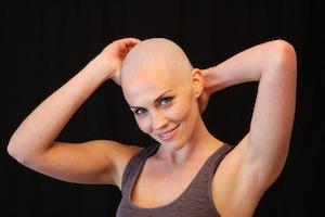 women embracing baldness